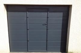 porte de garage basculante avec portillon integré (aluminium)