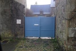 portail aluminium Bleu