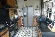 cuisine chêne / acier